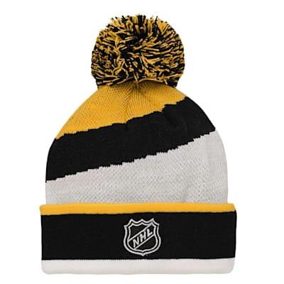 (Adidas Boston Bruins Legacy Jacquard Pom Knit Hat - Youth)