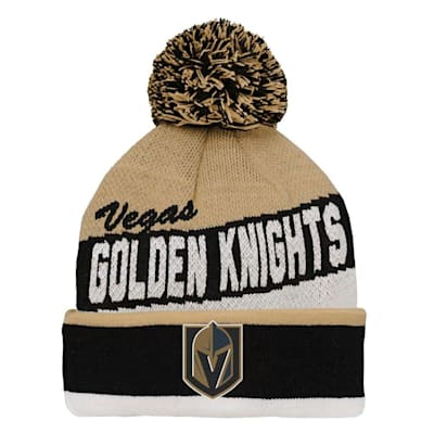 (Adidas Vegas Golden Knight Legacy Jacquard Pom Knit Hat - Youth)