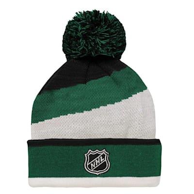 (Adidas Minnesota Wild Legacy Jacquard Pom Knit Hat - Youth)
