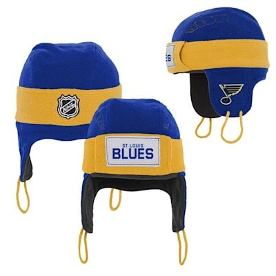 (Adidas St. Louis Blues Hockey Helmet Hat - Youth)