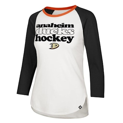 (47 Brand Hollow Stack Raglan Tee Anaheim Ducks - Womens)
