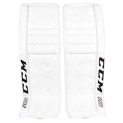 White/White (CCM Extreme Flex 4 Pro Goalie Leg Pads - Senior)