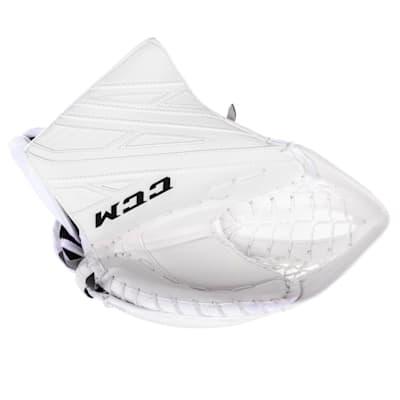White/White (CCM Extreme Flex 4 Pro Goalie Glove - Senior)