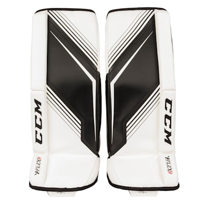 White/Black (CCM YT-Flex 2 Goalie Leg Pads - Youth)