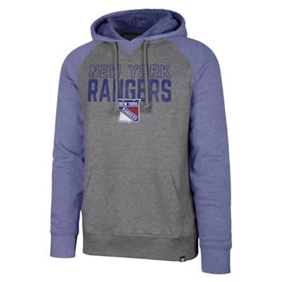 (47 Brand New York Rangers Match Raglan Hoody - Adult)