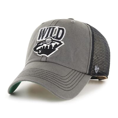 (47 Brand Minnesota Wild Charcoal Tuscaloosa Cap - Adult)