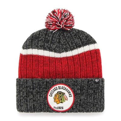 (47 Brand Holcomb Pom Knit Hat - Chicago Blackhawks - Adult)