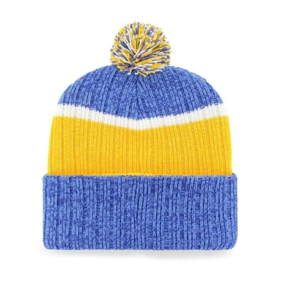 (47 Brand Holcomb Pom Knit Hat - St. Louis Blues - Adult)