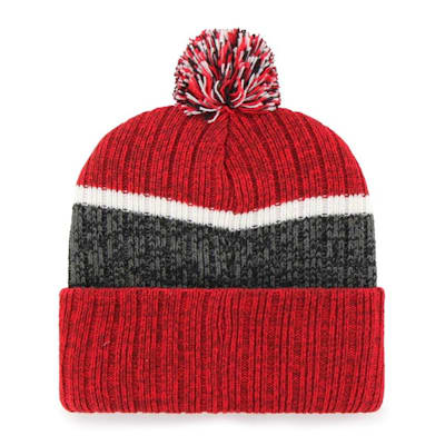 (47 Brand Holcomb Pom Knit Hat - New Jersey Devils - Adult)
