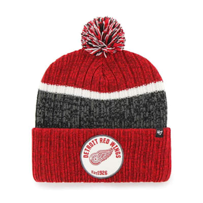 (47 Brand Holcomb Pom Knit Hat - Detroit Red Wings - Adult)
