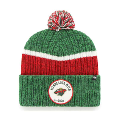 (47 Brand Holcomb Pom Knit Hat - Minnesota Wild - Adult)