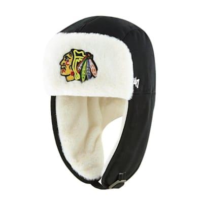 (47 Brand Trapper Knit Hat - Chicago Blackhawks - Adult)
