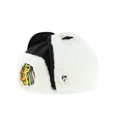 (47 Brand Trapper Knit Hat - Chicago Blackhawks - Adult)