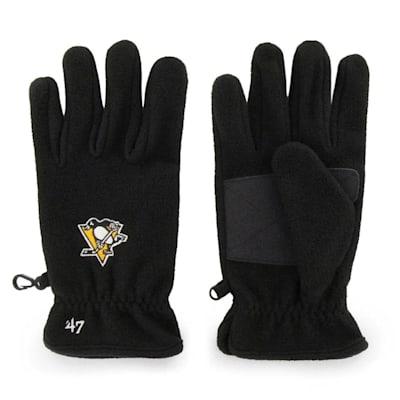 (47 Brand Pittsburgh Penguins Fleece Gloves - Adult)