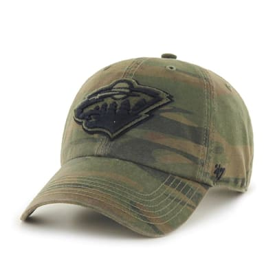 (47 Brand Movement Clean Up Camo Cap - Minnesota Wild - Adult)