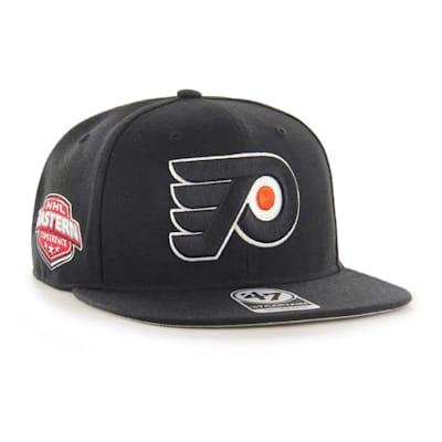 (47 Brand Philadelphia Flyers Sure Shot Captain Snapback Cap - Adult)