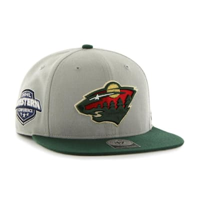 (47 Brand Minnesota Wild Sure Shot Two Tone Snapback Cap - Adult)