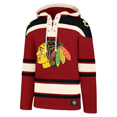 (47 Brand Lacer Pullover Hoodie - Chicago Blackhawks - Adult)