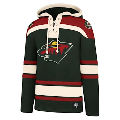 (47 Brand Lacer Pullover Hoodie - Minnesota Wild - Adult)