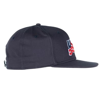 (USA Hockey Flat Brim Snapback Cap - Adult)