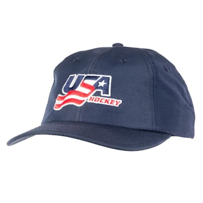 Navy Front (USA Hockey Performance Cap - Adult)