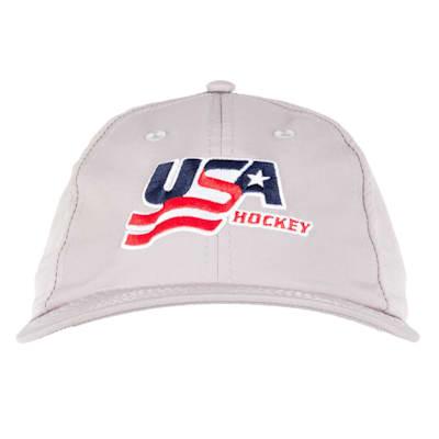 Grey Front (USA Hockey Performance Cap - Adult)