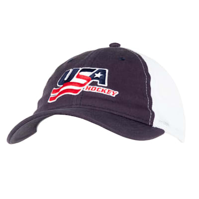 Navy Front (USA Hockey Meshback Cap - Adult)