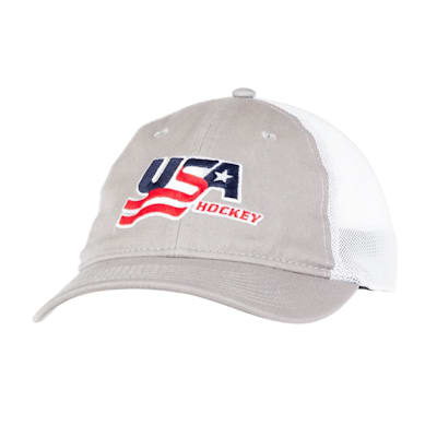 Grey Front (USA Hockey Meshback Cap - Adult)