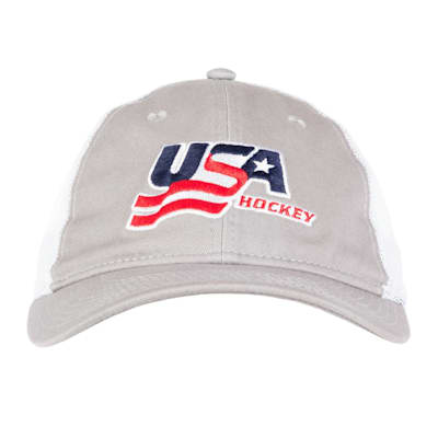 Grey Front (USA Hockey Meshback Cap - Adult)