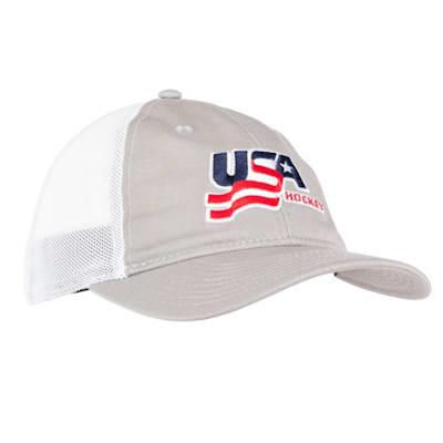 Grey (USA Hockey Meshback Cap - Adult)