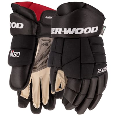 (Sher-Wood REKKER M80 Hockey Gloves - Junior)