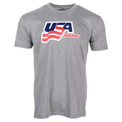 Grey Front (USA Hockey Short Sleeve Tee Shirt - Adult)