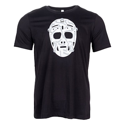 Black Front (PlusMinus Retro Goalie Mask Tee Shirt - Adult)