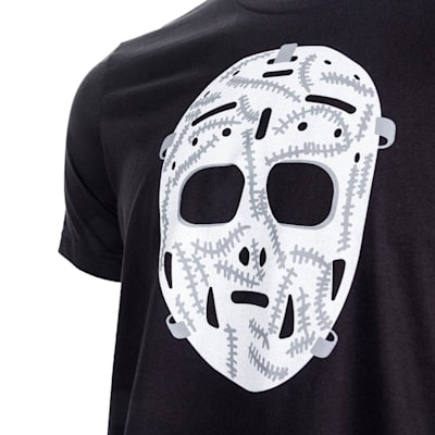 Black Graphic (PlusMinus Retro Goalie Mask Tee Shirt - Adult)