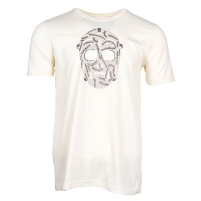 Natural Front (PlusMinus Retro Goalie Mask Tee Shirt - Adult)