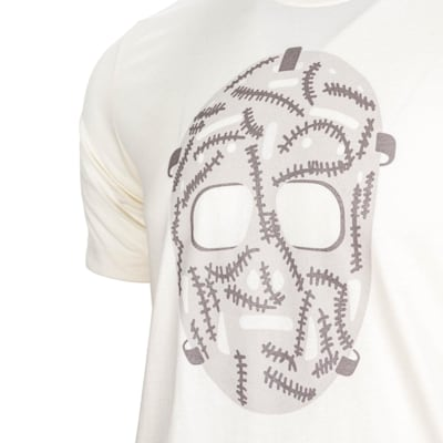 Natural Graphic (PlusMinus Retro Goalie Mask Tee Shirt - Adult)