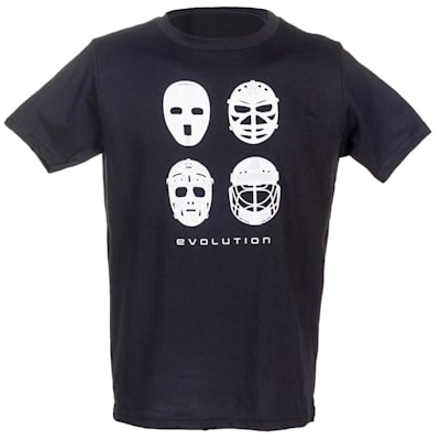 Front (PlusMinus Goalie Mask Evolution Tee Shirt - Youth)