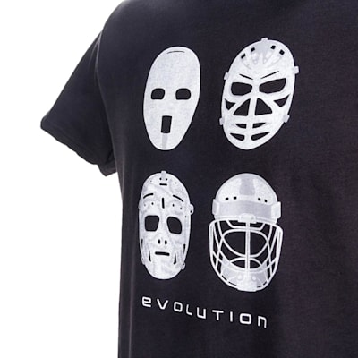 Graphic (PlusMinus Goalie Mask Evolution Tee Shirt - Youth)