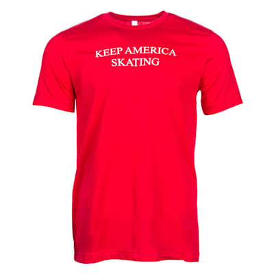 Front (PlusMinus Keep America Skating Tee Shirt - Adult)