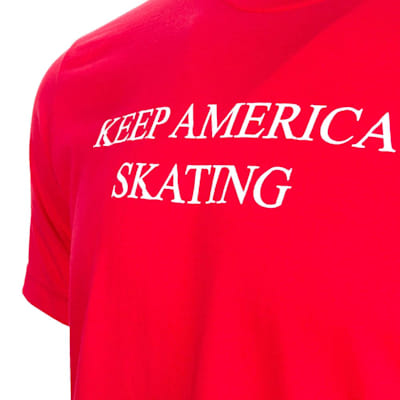 Graphic (PlusMinus Keep America Skating Tee Shirt - Adult)