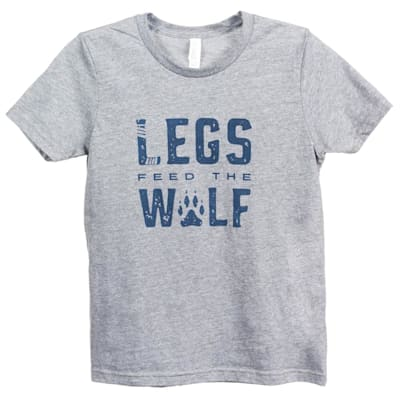 Front (PlusMinus Legs Feed the Wolf Tee Shirt - Youth)