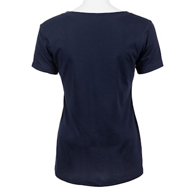Navy Back (PlusMinus Proud Hockey Mom Tee Shirt - Womens)
