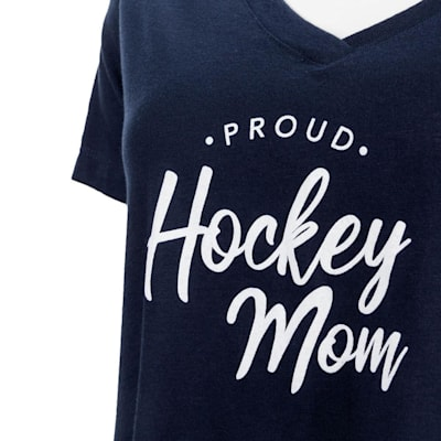 Navy Graphic (PlusMinus Proud Hockey Mom Tee Shirt - Womens)