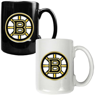 (Boston Bruins 15 oz Ceramic Mug Gift Set)
