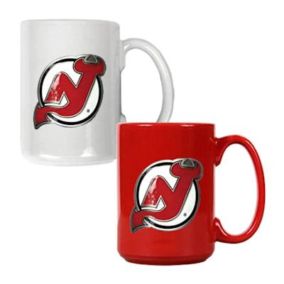 (New Jersey Devils 15 oz Ceramic Mug Gift Set)