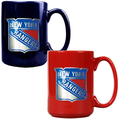 (New York Rangers 15 oz Ceramic Mug Gift Set)
