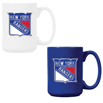 (New York Rangers 15 oz Ceramic Mug Gift Set)