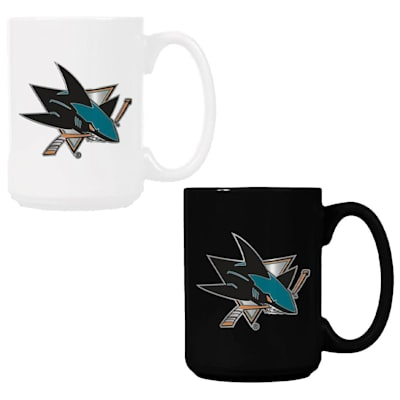 (San Jose Sharks 15 oz Ceramic Mug Gift Set)