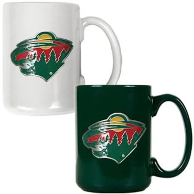 (Minnesota Wild 15 oz Ceramic Mug Gift Set)