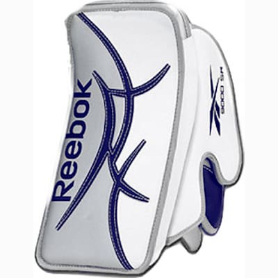 White/White/Blue (Reebok Revoke Pro Goalie Blocker - Intermediate)